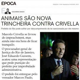 Época 4/07/2019 – Animais são nova trincheira contra Crivella